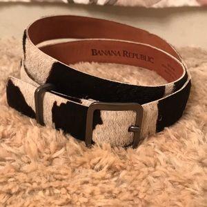 Banana Republic- genuine cow-hair leather belt!